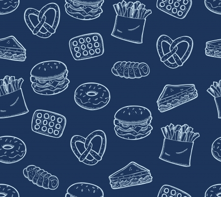 snack food background Vector
