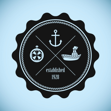 Vintage nautical badge Vector