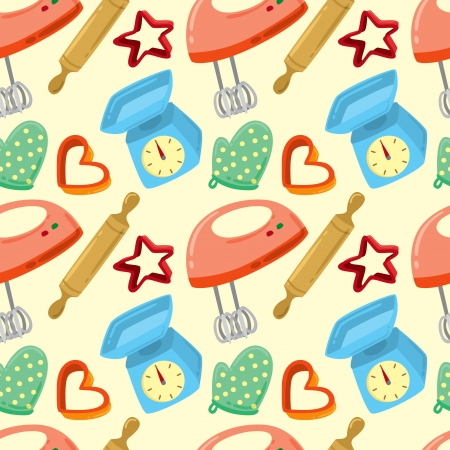 baking equipment pattern Vector