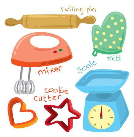 color mixing: baking equipment