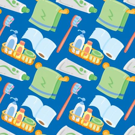toilet paper art: bathroom stuff pattern