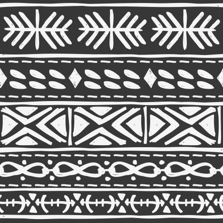 folk art: black tribal motif Illustration