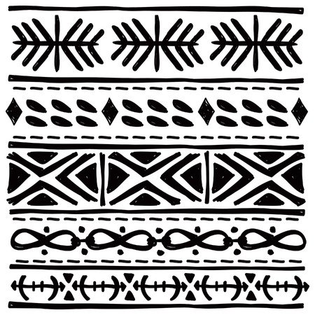 black tribal motif Illustration