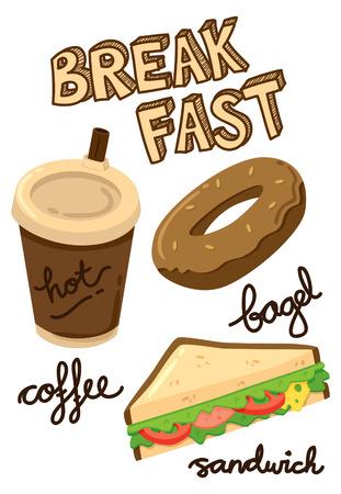 breakfast icon doodle Illustration
