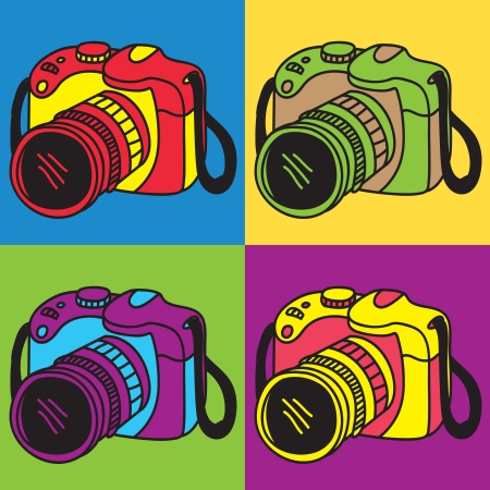 camera pop art Vector