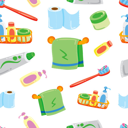 cartoon bathroom stuff background Vector