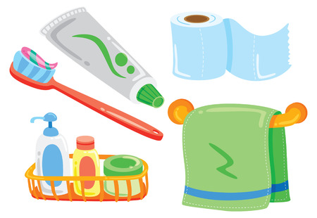 cartoon bathroom stuff Vector