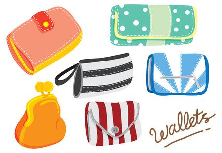 handbags: cartoon wallet Illustration