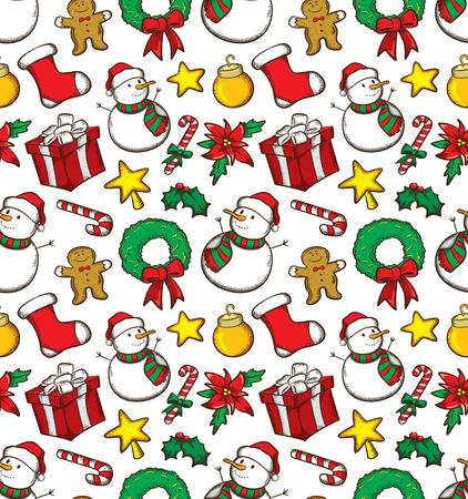 크리스마스 공: 크리스마스 패턴 일러스트