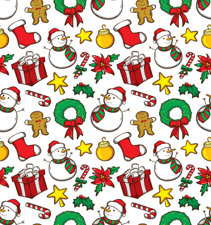 mo�os de navidad: Navidad patr�n Vectores