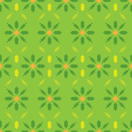 flower pixel pattern Vector