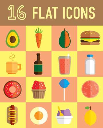 food flat icon Stock Vector - 24578623