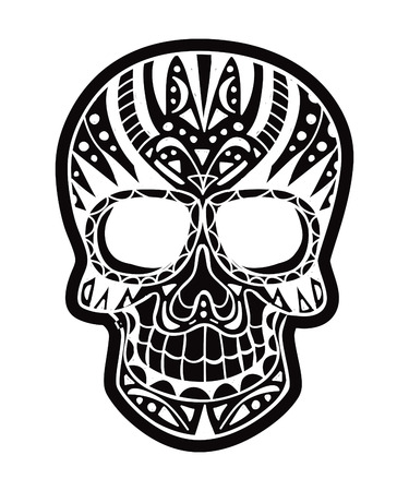 inverted sugarskull Vector