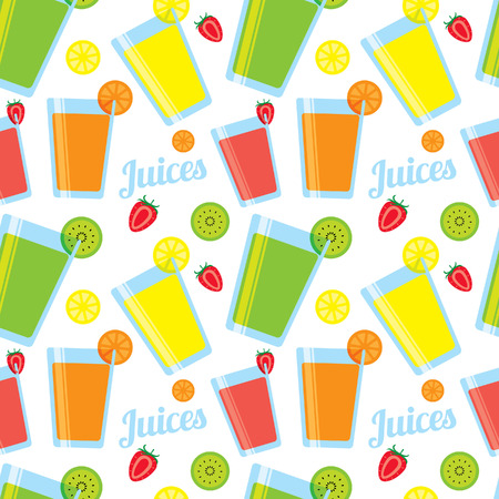 juice pattern Vector