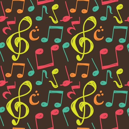 musical ornament: musical note pattern Illustration