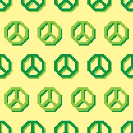 peace symbol: peace symbol pixel pattern