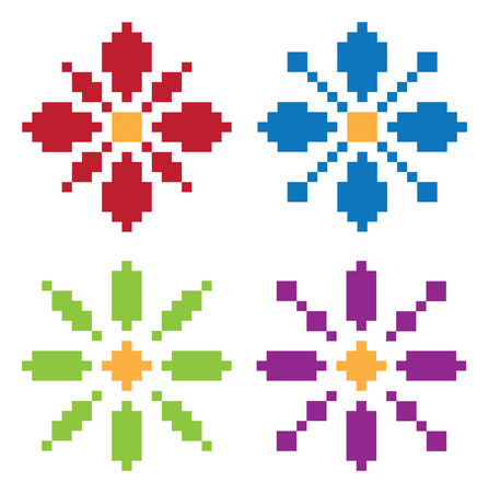 pixel flower Vector