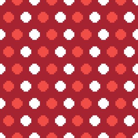 polkadot: polkadot pixelated pattern Illustration