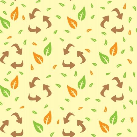basura organica: patrón de reciclaje Vectores