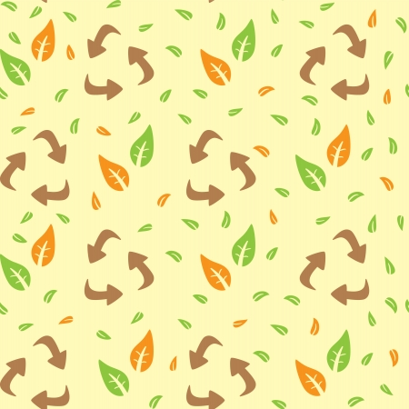 go green icons: recycle pattern Illustration