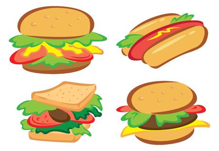 quick snack: set of food icon