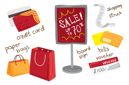 shopping spree icon doodle Vector