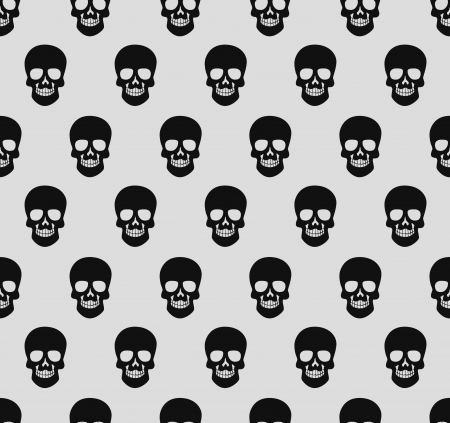 pirates flag design: skull pattern Illustration