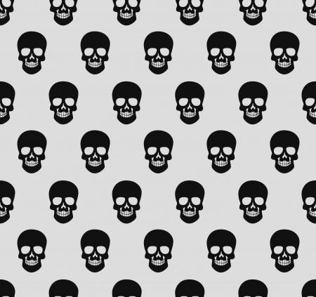 cute skull: skull pattern Illustration