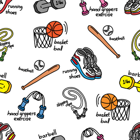 sport doodle background Vector