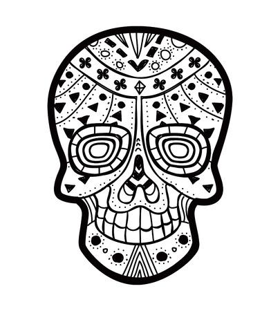 rose: sugar skull