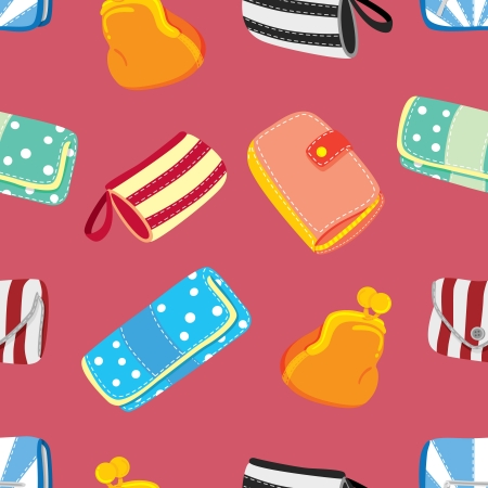 cartoon wallet background Vector