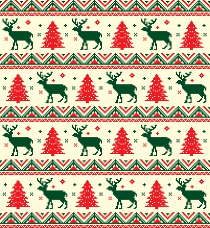 christmas reindeer: chistmas pixel pattern