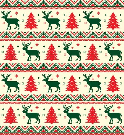 renos de navidad: patrón de píxeles chistmas