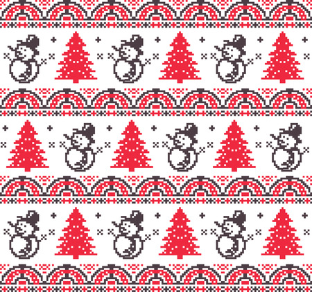 chistmas pixel pattern