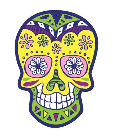 mexican art: sugarskull colorato