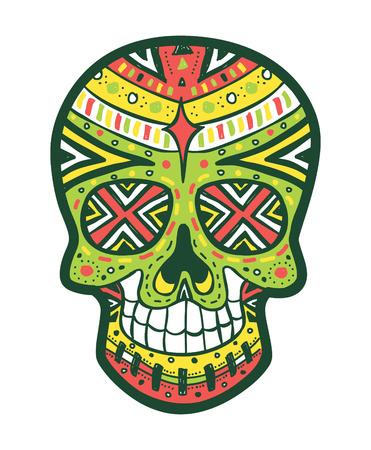 morte: sugarskull colorido