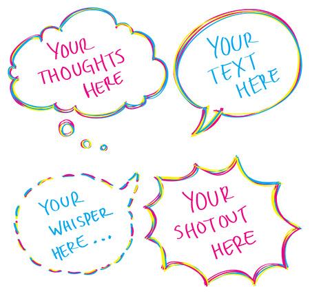colorful bubble speech