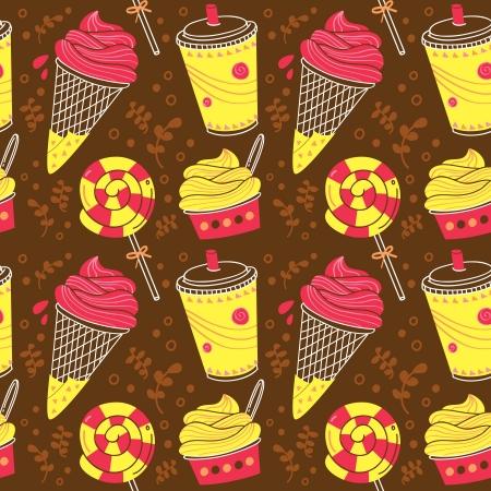 desserts pattern Vector