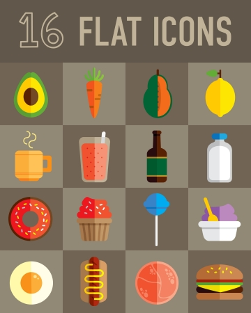 food flat icon Stock Vector - 24578893