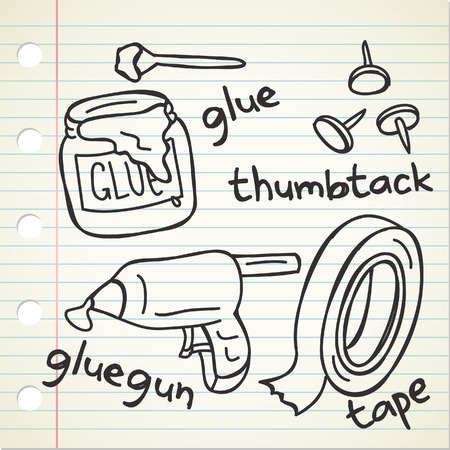 gluing: gluing tools in doodle style