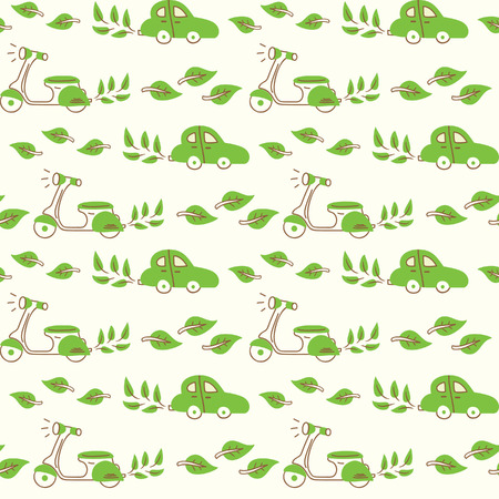 go green pattern Vector
