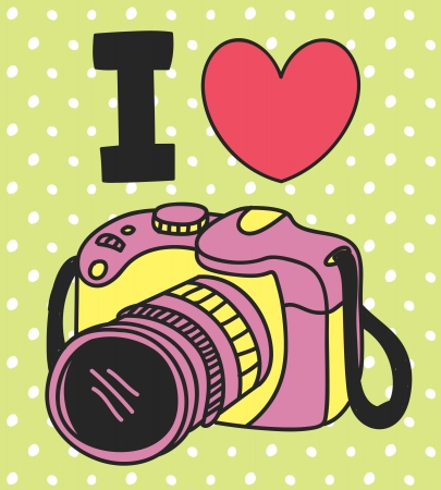i love photogtaphy Vectores