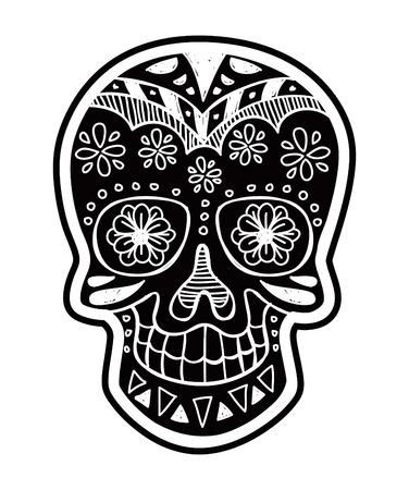 inverted sugar skull