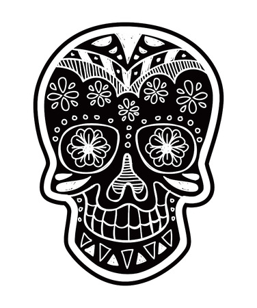 inverted sugar skull Vector