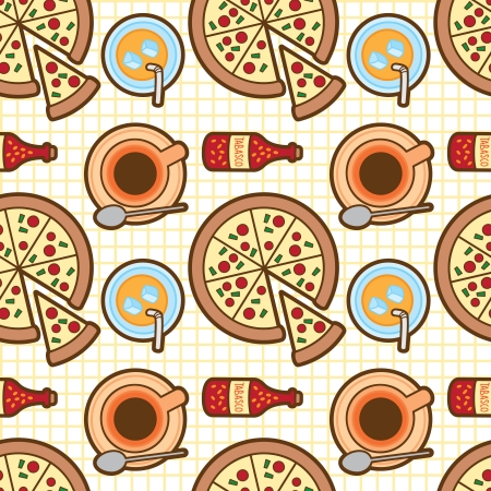 repeated: pizza pattern