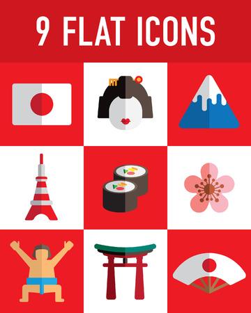 japan flat icon