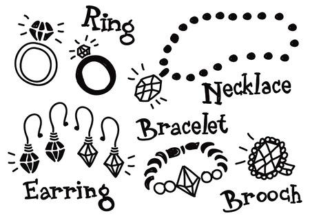 jewelry doodle  Illustration