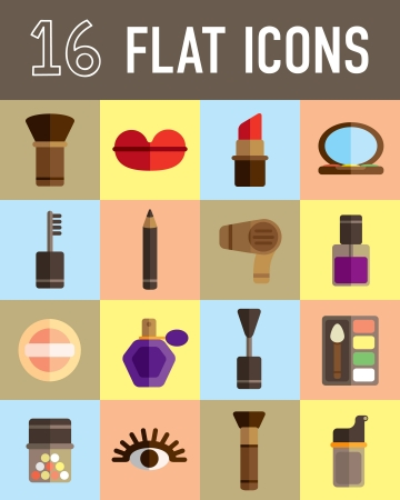 flat brush: make up flat icon