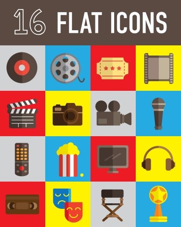 movie flat icon Vector
