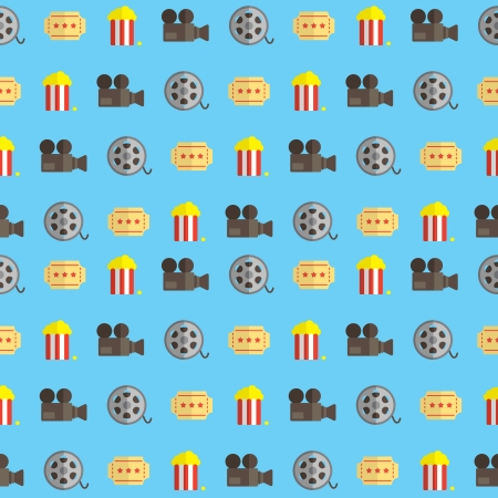 movie pattern Vector